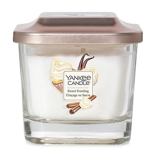 Svíčka ve skleněné váze Yankee Candle Sladká poleva, 96 g