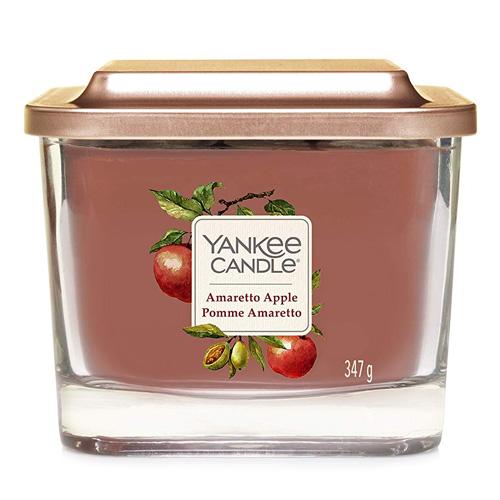 Svíčka ve skleněné váze Yankee Candle Amaretto s jablkem, 347 g