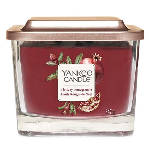 Svíčka ve skleněné váze Yankee Candle Sváteční granátové jablko, 347 g