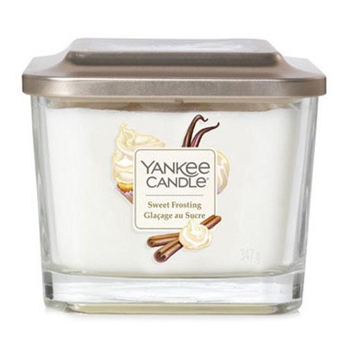 Svíčka ve skleněné váze Yankee Candle Sladká poleva, 347 g