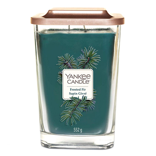 Svíčka ve skleněné váze Yankee Candle Zmrzlá jedle, 552 g