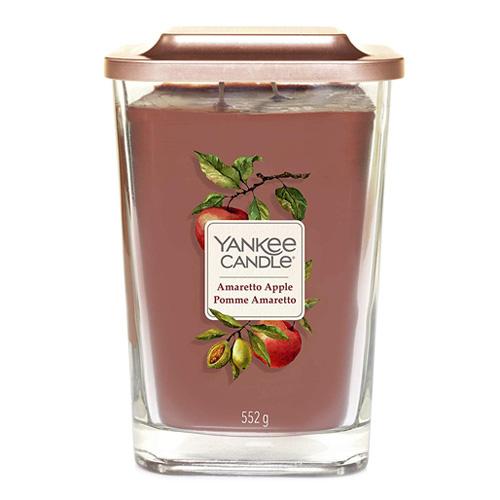 Svíčka ve skleněné váze Yankee Candle Amaretto s jablkem, 552 g