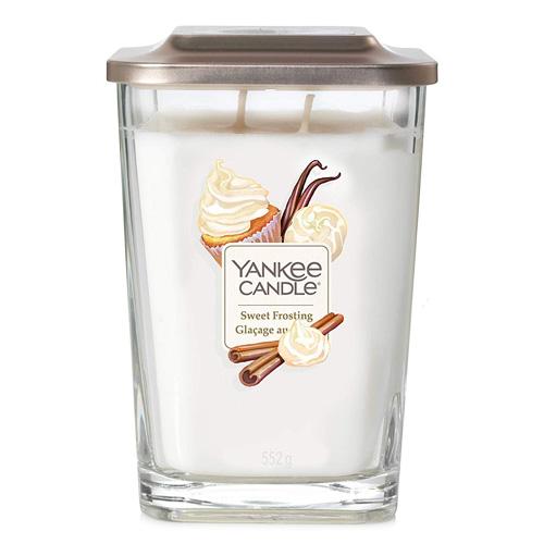 Svíčka ve skleněné váze Yankee Candle Sladká poleva, 552 g