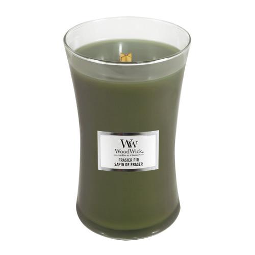 Svíčka oválná váza WoodWick Jedle, 609.5 g