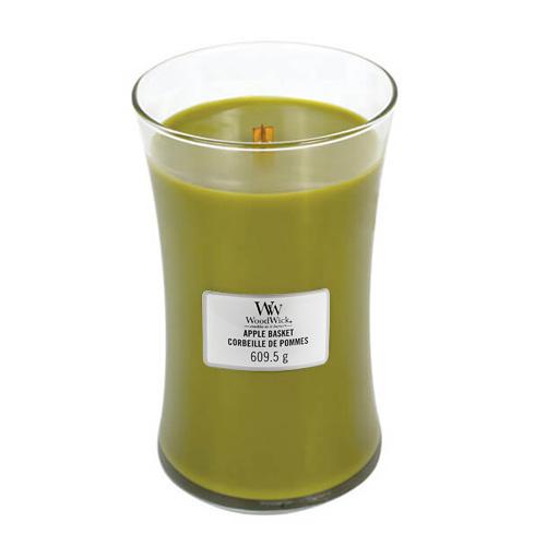 Svíčka oválná váza WoodWick Košík jablek, 609.5 g