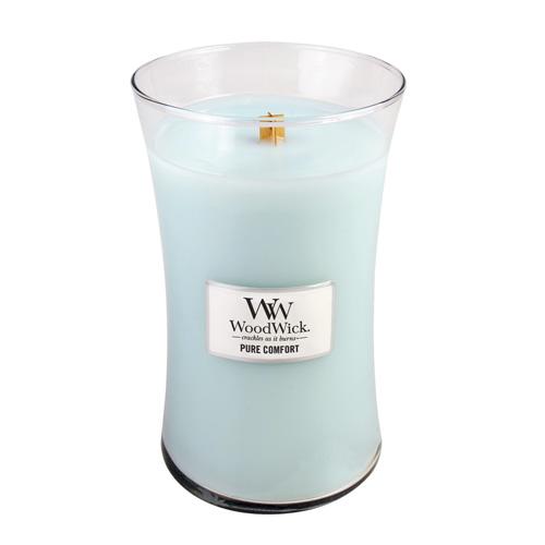 Svíčka oválná váza WoodWick Čistota a pohodlí, 609.5 g