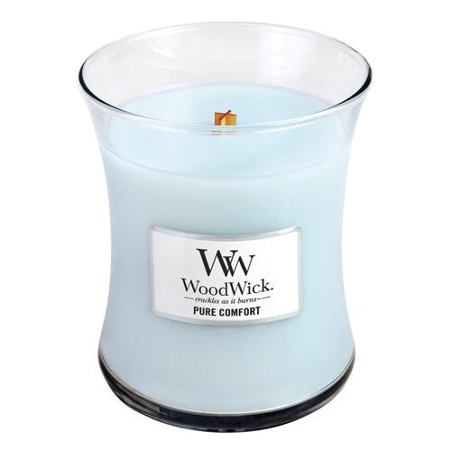 Svíčka oválná váza WoodWick Čistota a pohodlí, 275 g
