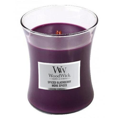 Svíčka oválná váza WoodWick Pikantní ostružina, 275 g