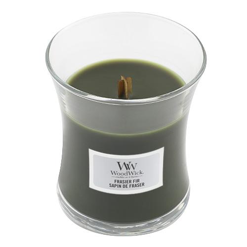 Svíčka oválná váza WoodWick Jedle, 85 g
