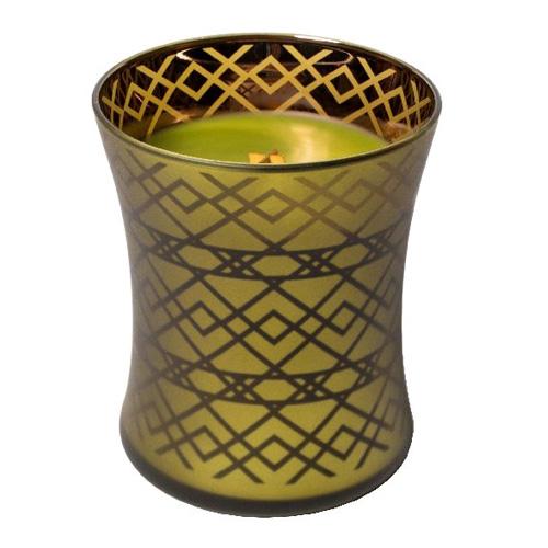 Svíčka oválná váza WoodWick Košík jablek, 275 g