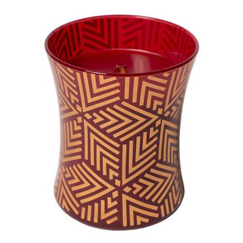 Svíčka oválná váza WoodWick Červená jeřabina, 275 g