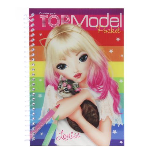 Omalovánky Top Model ASST Louise, duhové
