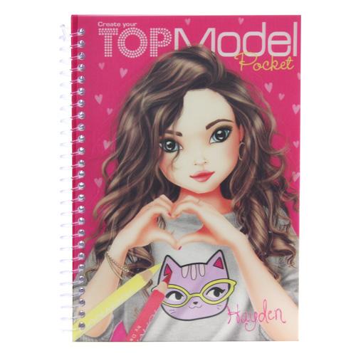 Omalovánky Top Model ASST Hayden, růžové