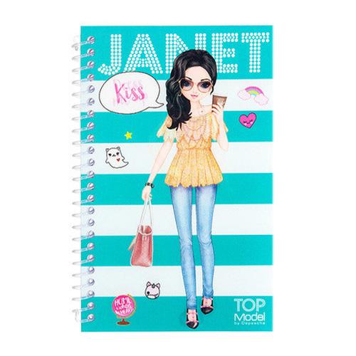 Kreativní sešit Top Model ASST Janet, Obleč mě, tyrkysové pruhy