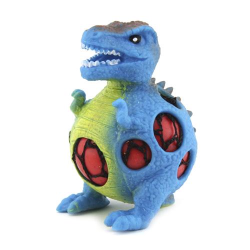 Mačkací figurka Dino World ASST Tyranosaurus, modrý