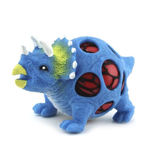 Mačkací figurka Dino World ASST Triceratops, modrý