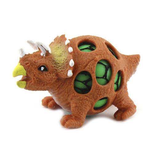 Mačkací figurka Dino World ASST Triceratops, oranžový