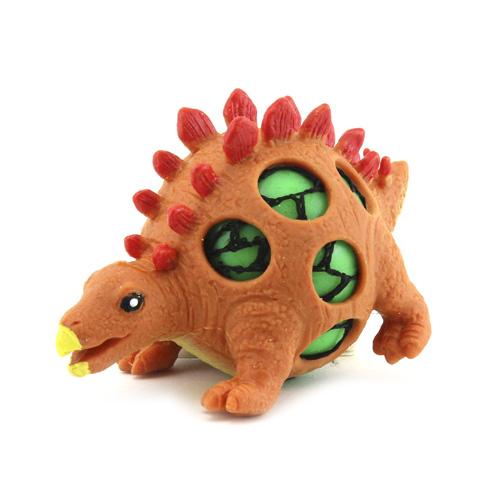 Mačkací figurka Dino World ASST Stegosaurus, oranžový