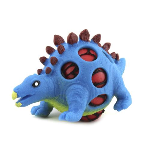 Mačkací figurka Dino World ASST Stegosaurus, modrý