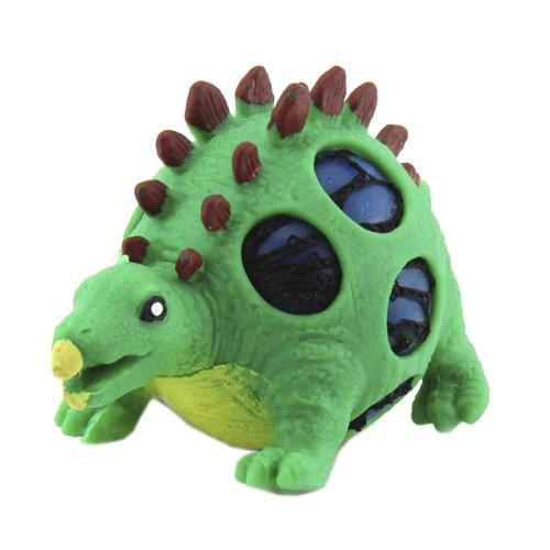 Mačkací figurka Dino World ASST Stegosaurus, zelený