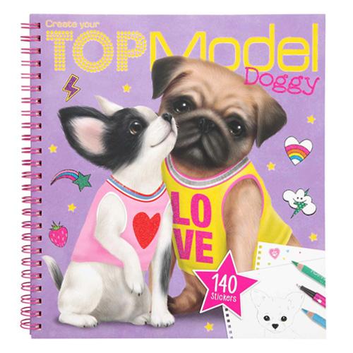 Omalovánky, kreativní sada Top Model Bisou a Prince, Doggy, 140 samolepek
