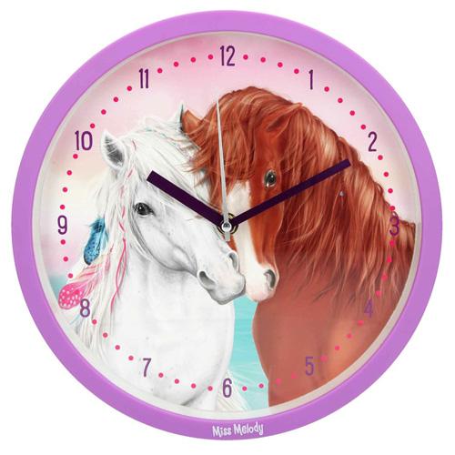 Nástěnné hodiny Miss Melody Miss Melody a Pelly, fialové