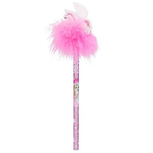 Tužka s gumou Fantasy Model ASST Růžové chmýří, letající jednorožec