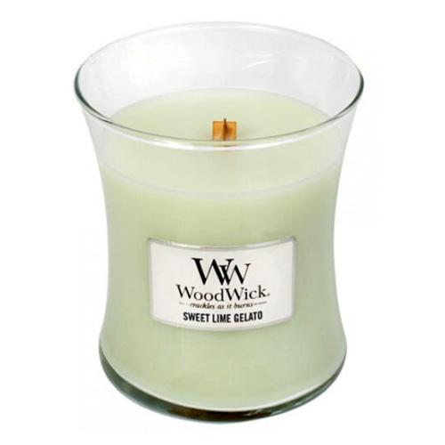 Svíčka oválná váza WoodWick Sladká zmrzlina, 275 g