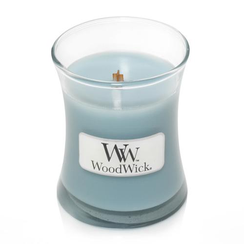 Svíčka oválná váza WoodWick Mořská sůl a bavlna, 85 g
