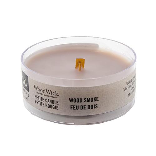 Drobná svíčka WoodWick Kouř z cedrového dřeva, 31 g