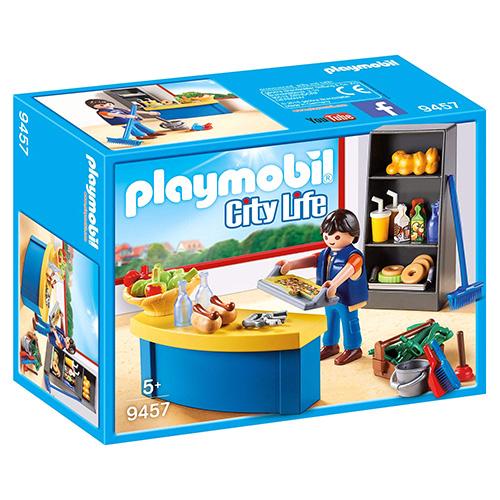 Školník a stánek s občerstvením Playmobil Život ve městě, 40 dílků
