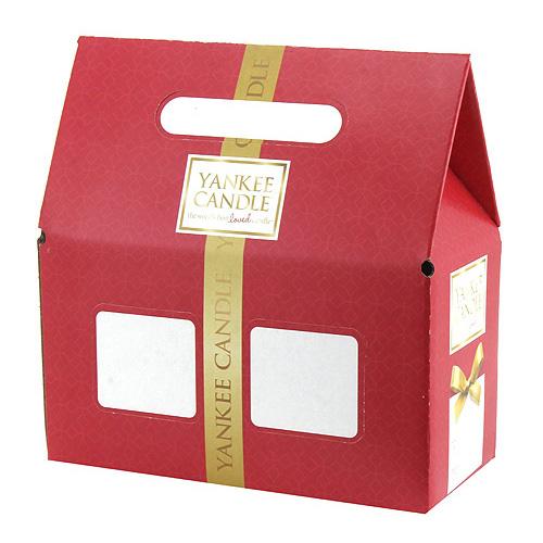 Dárková krabička Yankee Candle Na 2 střední svíčky Classic, červená