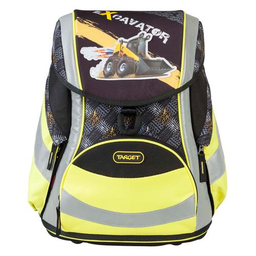 Školní aktovka Target Bagr, žluto-černá