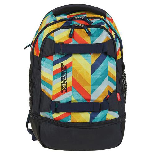 Sportovní batoh Target Tmavě modrý s barevnými proužky