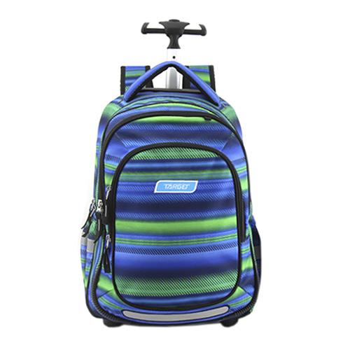 Školní batoh Trolley Target Zeleno-modrý se vzorem