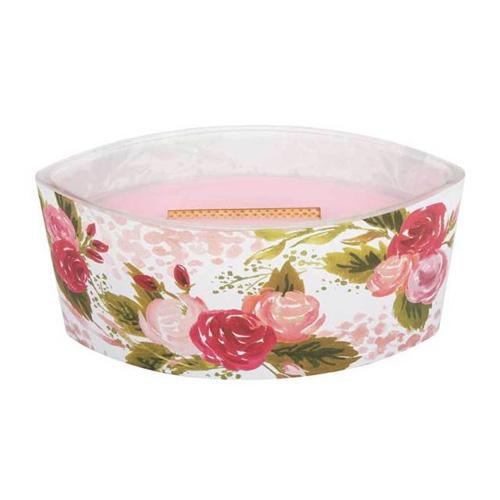Svíčka dekorativní váza WoodWick Růže, 453.6 g