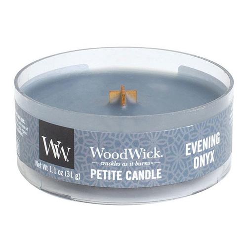 Drobná svíčka WoodWick Večerní onyx, 31 g