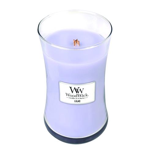 Svíčka oválná váza WoodWick Šeřík, 609.5 g