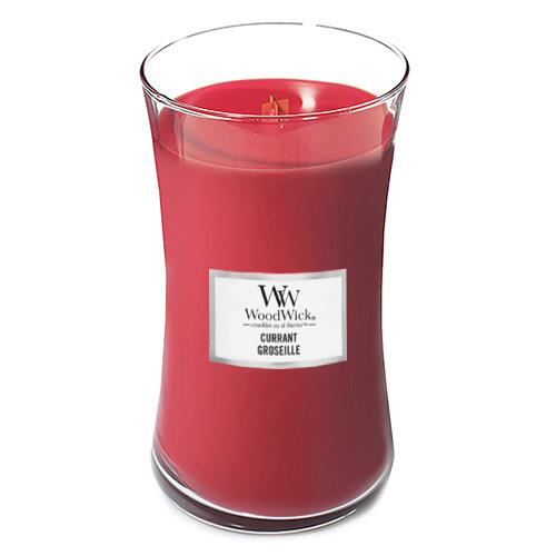 Svíčka oválná váza WoodWick Rybíz, 609.5 g
