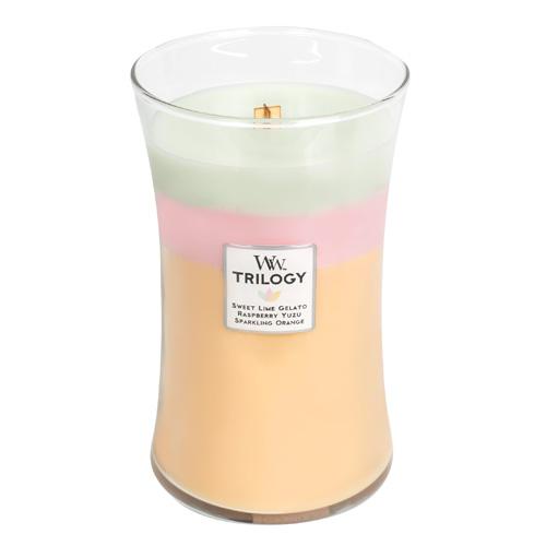 Svíčka Trilogy WoodWick Letní sladkosti, 609.5 g