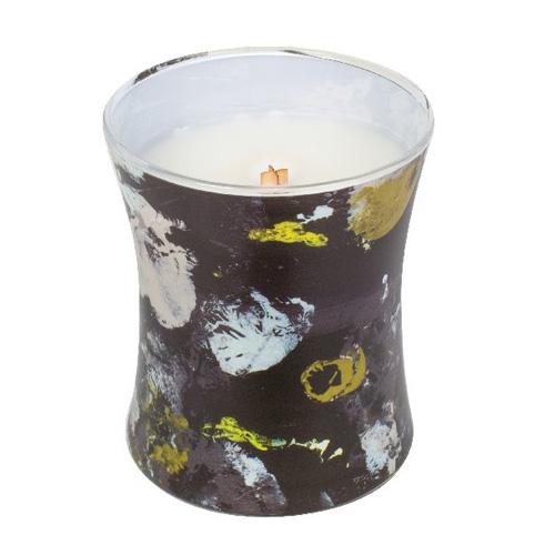 Svíčka oválná váza WoodWick Ebenové dřevo, 275 g