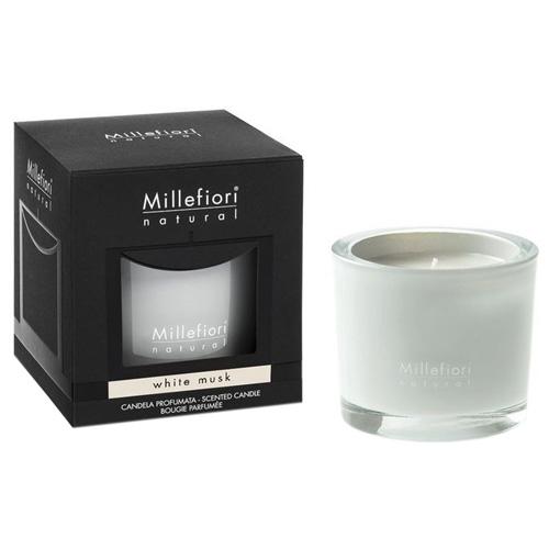 Vonná svíčka Millefiori Milano Bílé pižmo, Natural, 180 g
