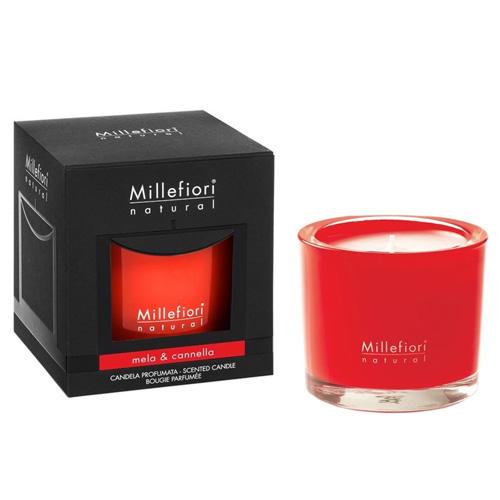 Vonná svíčka Millefiori Milano Jablko a skořice, Natural, 180 g