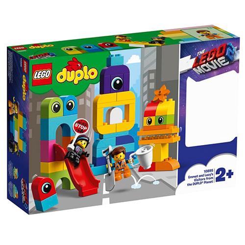 Stavebnice LEGO Duplo Emmet, Lucy a návštěvníci z Duplo planety, 53 dílků