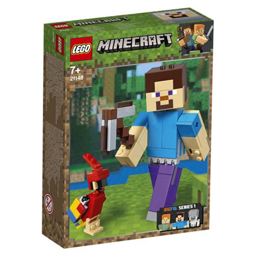 Stavebnice LEGO Minecraft Minecraft velká figurka: Steve s papouškem, 159 dílků