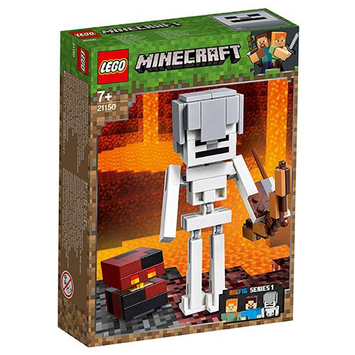 Stavebnice LEGO Minecraft Minecraft velká figurka: Kostlivec s pekelným slizem, 142 dí
