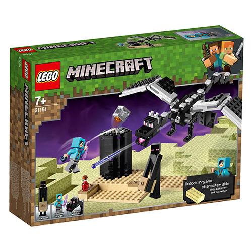 Stavebnice LEGO Minecraft Souboj ve světě End, 222 dílků