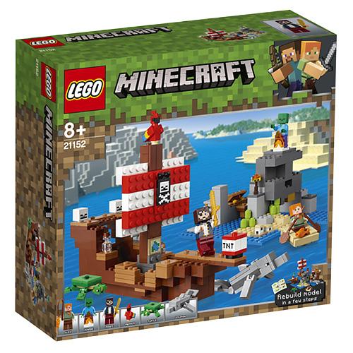 Stavebnice LEGO Minecraft Dobrodružství pirátské lodi, 396 dílků