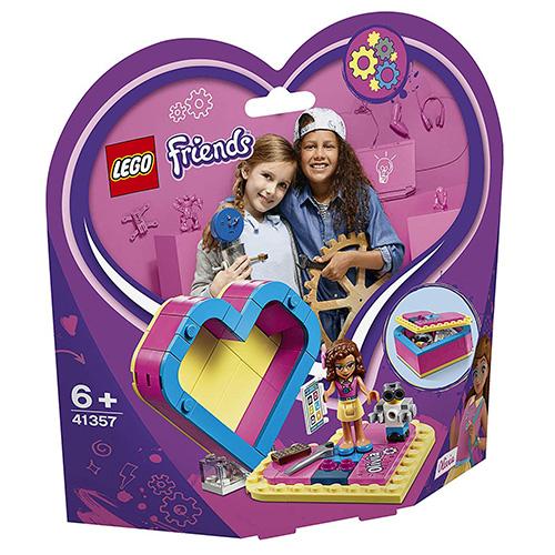 Stavebnice LEGO Friends Oliviina srdcová krabička, 85 dílků