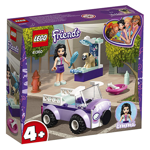 Stavebnice LEGO Friends Emma a mobilní veterinární klinika, 50 dílků